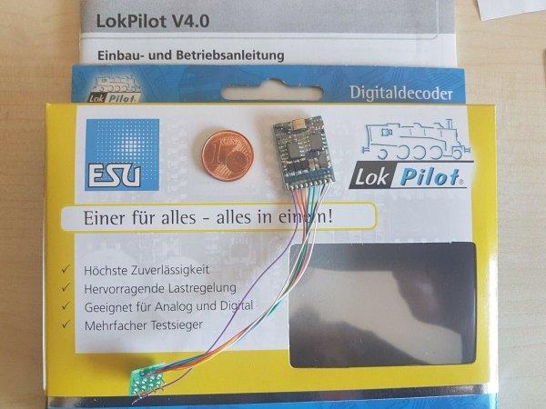 ESU 64610 Quad-LokPilot V4 Decoder Kabel+8-pol.Stecker NEM651 mfx M4/MOT/DCC/SX