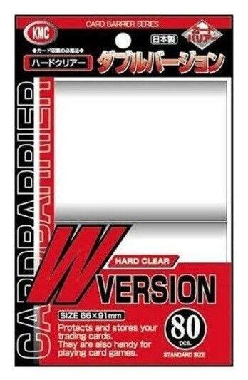 KMC Standard Sleeves W Version Hard Clear 66x91 mm (80)